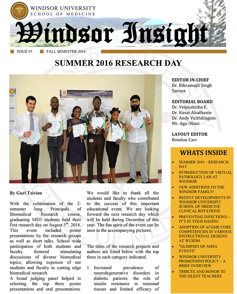 Windsor Insight Fall 2016